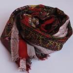 Paper Silk  Shawl Maroon