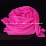 Deep Pink Cashmere Shawl