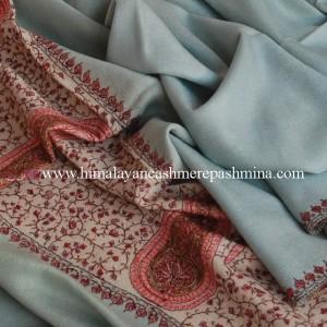 Blue Needle Embrodered Pashmina Shawl
