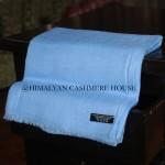 Sky Blue Ring Cashmere Pashmina Shawl