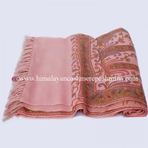 Embroidered Peach  Kashmiri Shawl