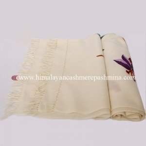 Ivory Kashmiri Shawl