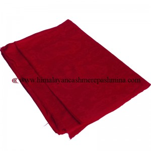 Jacquard Paisley Red Cashmere  Shawl