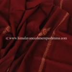 Maroon Needle Embroidered Kashmiri Shawl