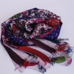 Paper Silk  Shawl Navy