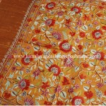 Autumn-Leaf Embroidered Kashmiri Silk Shawl