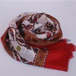 Paper Silk  Shawl Crimson