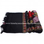 Black Embroidered  Kashmiri Shawl