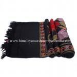 Black Embroidered  Kashmiri Shawl