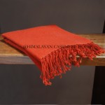Orange Pashmina Shawls