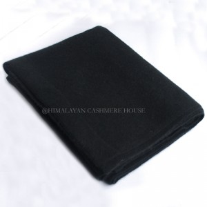 Black Cashmere Stole