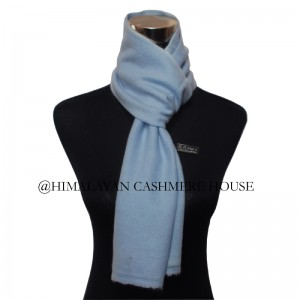 Sky Blue Cashmere Muffler