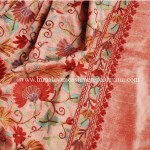 Pink Embroidered Kashmiri Silk Shawl