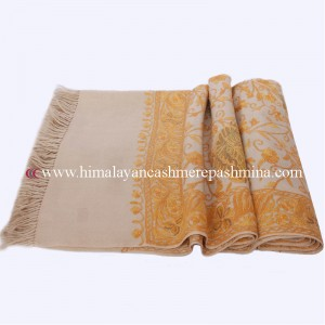 Cream  Kashmiri Shawl