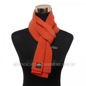 Orange and Yellow  Strip Cashmere  Scarf