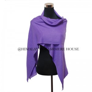 Deep Purple Cashmere Wrap