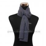 Black and Blue  Strip Cashmere Scarf