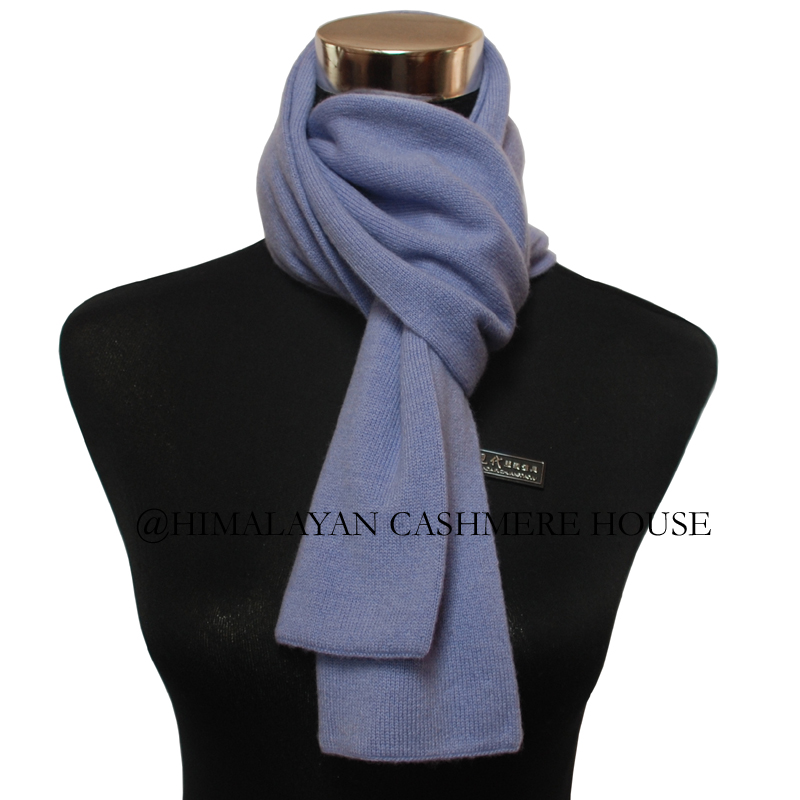 Sky Blue Knitted Cashmere Pashmina Scarf Cashmere Pashmina Scarves