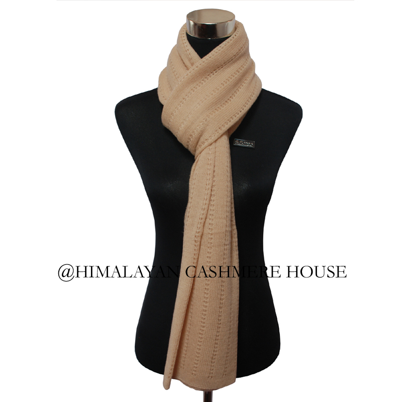 Hay Color Knitted Cashmere Pashmina Shawl Cashmere Pashmina Shawl