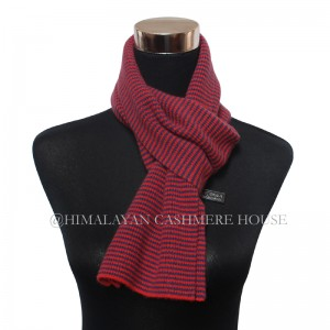 Red Blue Strip Cashmere  Scarf