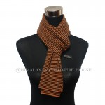 Black and Orange  Strip Cashmere  Scarf