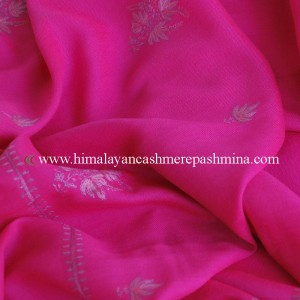 red Needle Embroidered Kashmiri Shawl