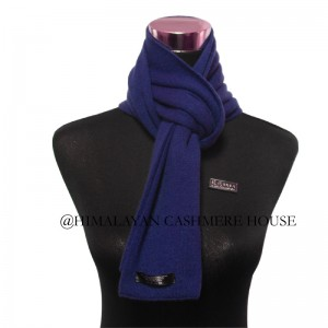 Ribbon Blue  Cashmere Scarf