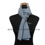 Blue White Strip Cashmere Scarf