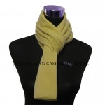 Yellow Knitted Cashmere Scarf