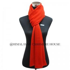 Orange cashmere shawl