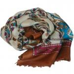 Paper Silk  Shawl Saddle Brown