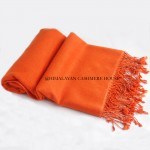 Orange Cashmere shawl