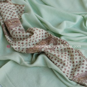 Green Needle Embrodered Pashmina Shawl