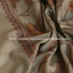 Grey Needle Embroidered Kashmiri Shawl