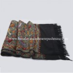 Hand Embroidered Black Kashmiri Shawl