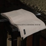 Cream Ring Cashmere Pashmina Shawl
