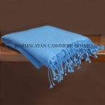 Aquarius  Blue Cashmere Pashmina Shawl