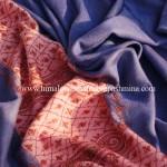 Slate Blue Needle Embrodered Pashmina Shawl