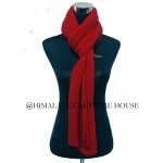Red Knitted Cashmere Shawl