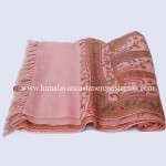Embroidered Peach  Kashmiri Shawl