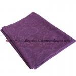Jacquard Paisley Purple Cashmere Shawl