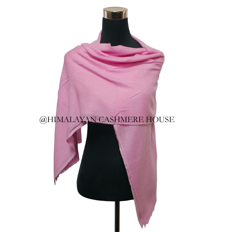 Baby Pink 100 Pashmina Cashmere Stole Wrap