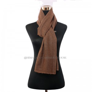 Natural Brown Cashmere Shawl