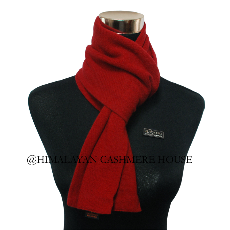 Red Knitted Cashmere Pashmina Scarf Cashmere Pashmina Scarves
