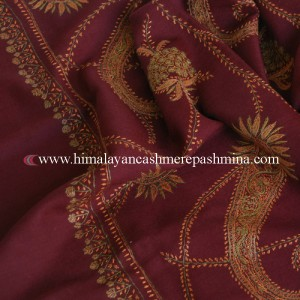 Embroidered Kashmiri shawl