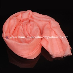 Light Coral Pashmina Shawl